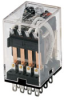 SZR-MY General Purpose Relay: Standard Relay; Plug-in/Solder Terminal; 4PDT; 24 Vdc -- SZR-MY4-1-DC24V