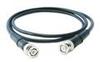 Low-cost, black coaxial cable (RG58/U), 50-ft, BNC plug to BNC plug -- 012A50