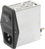 IEC Appliance Inlet C14 with Filter, Fuseholder 1-pole, Line Switch 2-pole -- FKH - Image