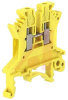 UK 1.5 N Yellow IEC Screw Clamp Terminal Block - 30-14 AWG -- 70169328