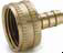 Garden Hose Fittings -- Swivel Connector Female Garden Hose to Hose Barb 90GH - Image