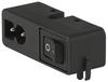 IEC Appliance Inlet C8 polarized with Line Switch 1-pole -- CMF2, CMF5