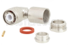 HN Male Right Angle Connector Clamp/Solder Attachment for RG14, RG217 -- PE45307 -Image