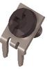 Slim-Line PC Screw Terminal, 45°-Black Screw Captivated