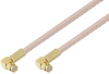 Push-On SMP Female Right Angle to Push-On SMP Female Right Angle Cable 100 cm Length Using RG316 Coax with 180 Deg. Clock -- PE3C3584/PH180-100CM -Image
