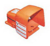 Heavy Duty Industrial Foot Switch Cast Metal, Alert Orange -- 78366798984-1