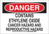 Brady B-555 Aluminum Rectangle White Chemical, Biohazard, Hazardous & Flammable Material Sign - 14 in Width x 10 in Height - 125949 -- 754473-74093