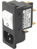 IEC Appliance Inlet C14 with Circuit Breaker TA35 2-pole -- 6135 - Image