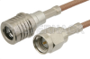 SMA Male to QMA Male Cable 36 Inch Length Using RG316-DS Coax -- PE38274-36 -Image