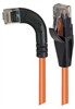 Category 6 Right Angle RJ45 Ethernet Patch Cords - Straight to RA (Left) - Orange, 1.0Ft -- TRD695RA6OR-1 -Image