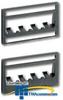 Panduit® Mini-Com Ultimate ID Patch Panel Faceplates.. -- UICPPL4BL