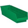 17 7/8in x 4 1/8in x 4in Green - Plastic Shelf Bin Boxes -- BINPS111G