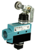 Enclosed Switches Series E6: Top Roller Arm Actuator, Adjustable with Steel Roller; 1NC 1NO SPDT Maintained; 0.5 in - 14NPT conduit -- BZE6-RN2X1 - Image