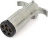 Pollak 11-604E 6-Way Trailer Connector Plug, Die-Cast Casing -- 35665 -Image