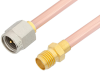 SMA Male to SMA Female Cable 12 Inch Length Using RG402 Coax, RoHS -- PE3823LF-12 -- View Larger Image