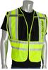 PIP 302-PSV Yellow/Black 2XL/5XL Mesh/Solid High-Visibility Vest - 2 Pockets - 616314-07312 -- 616314-07312