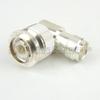 M55339/32-00001 RA TNC Male (Plug) to TNC Female (Jack) Adapter MIL-STD-202 Method 106, Silver Plated Brass Body, High Temp, 1.45 VSWR -- M55339/32-00001 - Image