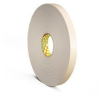 3M 4492 White Foam Mounting Tape - 5/8 in Width x 72 yd Length - 1/32 in Thick - 56069 -- 021200-56069 -- View Larger Image