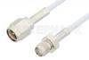 SMA Male to SMA Female Cable 12 Inch Length Using RG188 Coax, RoHS -- PE3706LF-12 -Image