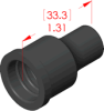 Straight Boot Insulator -- 16020 -- View Larger Image