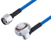 Plenum N Male to 7/16 DIN Male Right Angle Low PIM Cable 200 CM Length Using SPP-250-LLPL Coax , LF Solder -- PE3C4136-200CM -Image