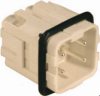 3 Pole with Ground Industrial Rectangular Connectors Male Insert -- 29009
