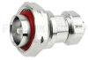 7/16 DIN Male (Plug) to 4.1/9.5 Mini DIN Male (Plug) Adapter IP67 UnMated, Tri-Metal Plated Brass Body, 1.3 VSWR -- SM4466 - Image