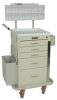 Five Drawer Mini Line Phlebotomy Cart Package with Brea.. -- 3245BPB -- View Larger Image