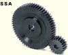 125mm PD Steel, Hubless Spur Gears -- SSA2.5-50-Image