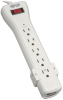 Protect It! 7-Outlet Surge Protector, 12-ft. Cord, 1080 Joules, Fax/Modem Protection, RJ11 -- SUPER6TEL12