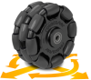 125mm Rotacaster Multi-Directional Wheels