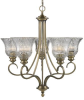 6005-5 AB Mid. Chandeliers-Glass Up -- 376448