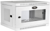 SmartRack 6U Low-Profile Switch-Depth Wall-Mount Rack Enclosure Cabinet with Clear Acrylic Window, White -- SRW6UWG -- View Larger Image
