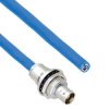 """Plenum Cable Assembly TRB Insulated Bulk Head Jack 3-Lug Cable Jack to Blunt MIL-STD-1553 .242"""" O.D. +125C 124 Ohm Twinaxial Shielded twisted pair 20' -- MSA00432-240 -- View Larger Image"""