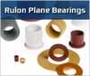 Rulon Flange Bearing (Metric Size) High Performance Fluoropolymer Bearings -- MRF350-430-40