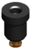 PTFE Insulated Test Jack Black -- 11004-B -Image