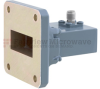WR-112 to SMA Female Waveguide to Coax Adapter UG-138/U Square Cover with 7.05 GHz to 10 GHz H Band in Aluminum, Paint -- FMWCA1040 - Image