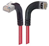Category 5E Shielded Right Angle Patch Cable, Right Angle Right/Right Angle Up, Red 1.0 ft -- TRD815SRA12RD-1 -Image