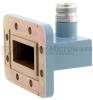 WR-137 to Type N Female Waveguide to Coax Adapter CPR-137G Grooved with 5.85 GHz to 8.2 GHz C Band in Aluminum, Paint -- FMWCA1051 - Image