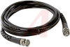 Cable Assy; 120 in.; 20 AWG; RG58C/U; Non Booted; Black Jacket; UL Listed -- 70197385 - Image