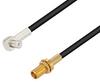 MCX Plug Right Angle to MCX Jack Bulkhead Cable 24 Inch Length Using RG174 Coax -- PE3W01300-24 -Image
