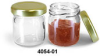 CLEAR GLASS JAR 1.25OZ WITH GOLD LID -- K83633 - Image