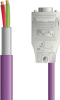 LAPP UNITRONIC® PROFIBUS® D-Sub Cordset to Straight Module - Wire Leads to D-sub straight - Violet PVC - Stationary - 1m -- OLFPB4110151S01 -- View Larger Image