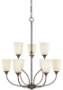 9 Light Chandelier -- 6WX0(Designers Fountain 96089-SNA)