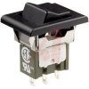 Switch, Rocker, SubMiniature, Snap-In MOUNT,SPDT,ON-NONE-ON -- 70192883 - Image