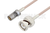 Snap-On BMA Jack to BNC Male Cable 24 Inch Length Using RG316 Coax -- PE3C4948-24 -Image