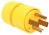 Pass & Seymour® -- Gator Grip Plug, Yellow - 1431