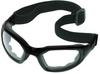 Maxim 2 x 2 Eyewear - w/ strap & temples > FRAME - Black > LENS - Clear, anti-fog > STANDARD PK - 50/bx > UOM - Each -- 40686-00000