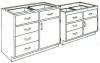 Standard Steel Laboratory Cabinet, (1) Door-Drawer & (_) Drawers -- 150 Series - Image