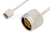 SMA Male to N Male Cable 60 Inch Length Using PE-SR405AL Coax -- PE34270LF-60 -Image